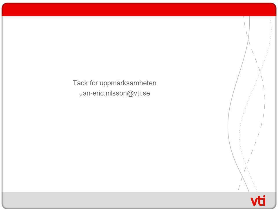 Tack för uppmärksamheten Jan-eric.nilsson@vti.se