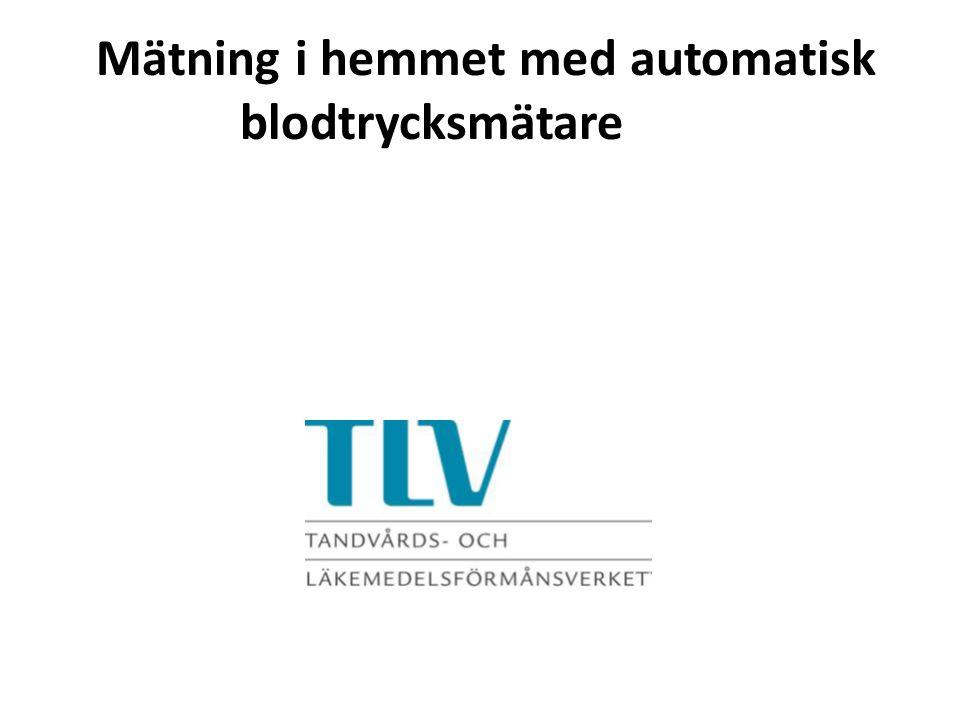 Mätning i hemmet med automatisk blodtrycksmätare