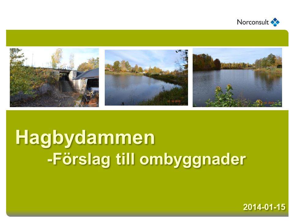 Hagbydammen -Förslag till ombyggnader 2014-01-15