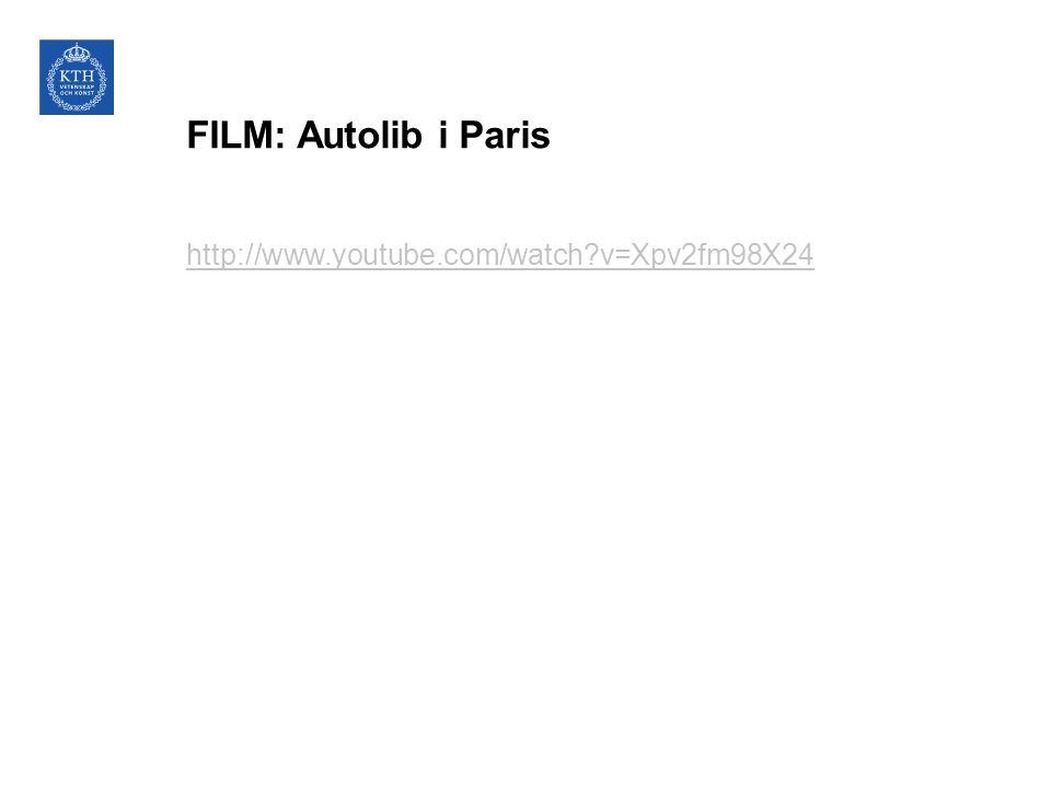 FILM: Autolib i Paris http://www.youtube.com/watch?v=Xpv2fm98X24