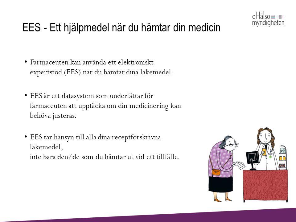 Vem kan ha nytta av EES.• Du som har läkemedel på recept.
