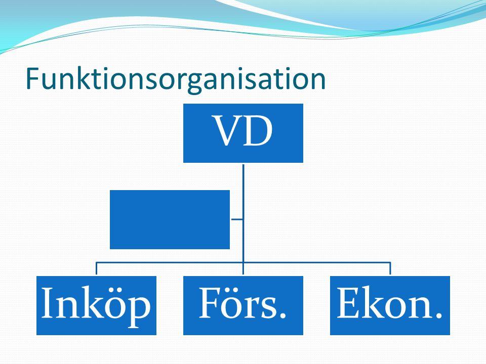 Funktionsorganisation  Fördelar, bl.