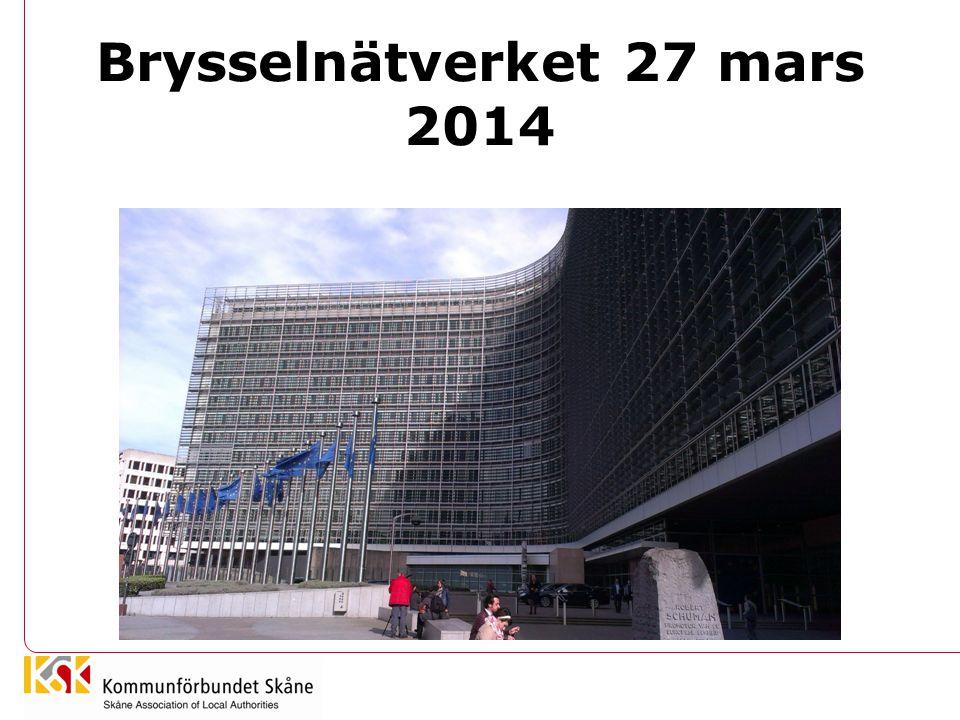 Lägesrapport Bryssel •Projektrådgivning •Servicefunktioner •Bevakning •Verksamhetsplan 2014-2015 •Fokuserad växtdagordning