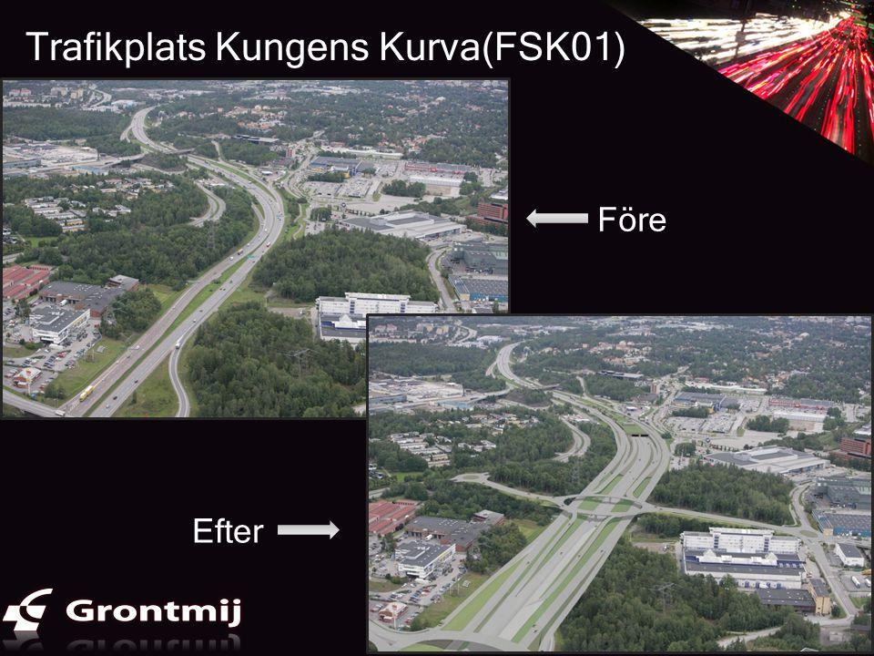Trafikplats Kungens Kurva(FSK01) Efter Före