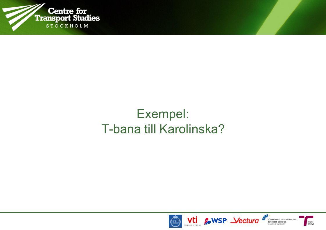 Exempel: T-bana till Karolinska?