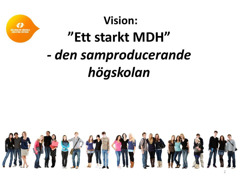 Vision: Ett starkt MDH - den samproducerande högskolan 2