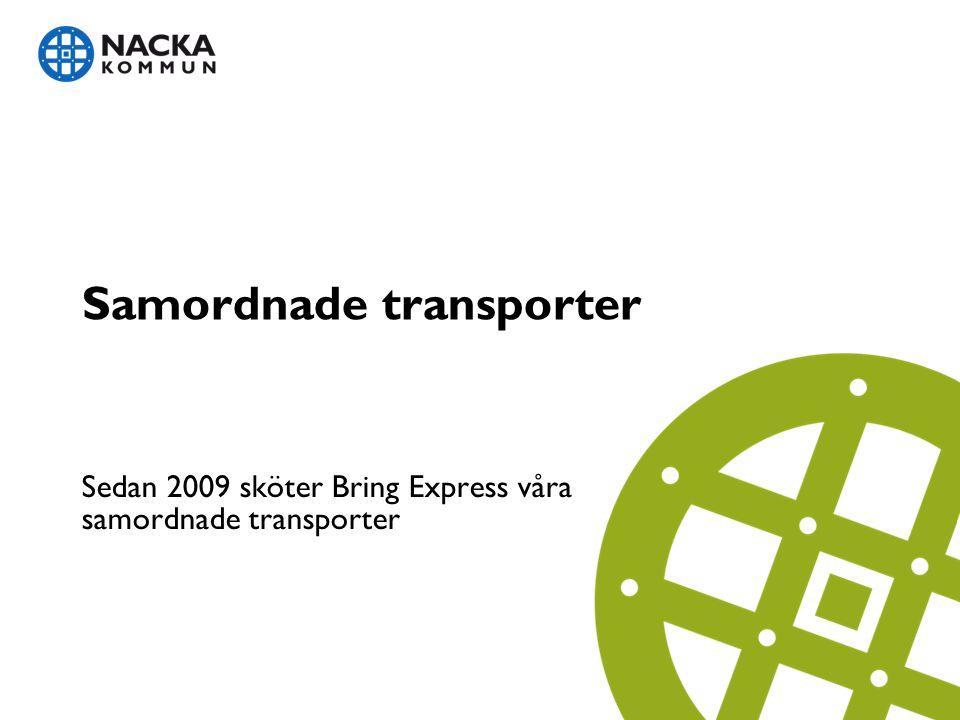 Samordnade transporter Sedan 2009 sköter Bring Express våra samordnade transporter