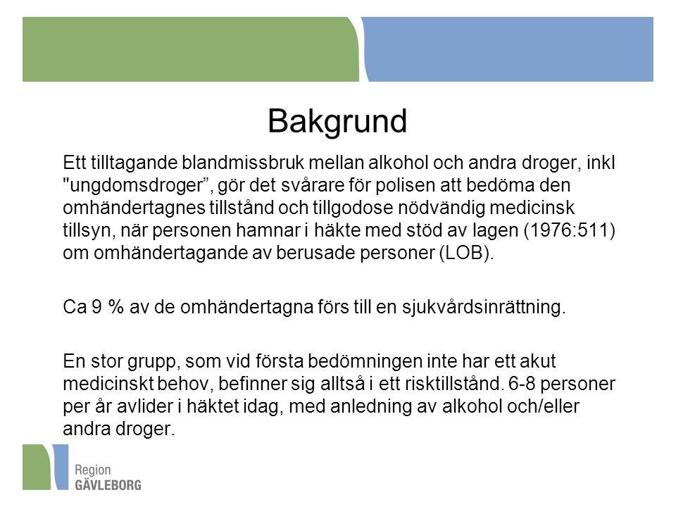 Bakgrund Ett tilltagande blandmissbruk mellan alkohol och andra droger, inkl