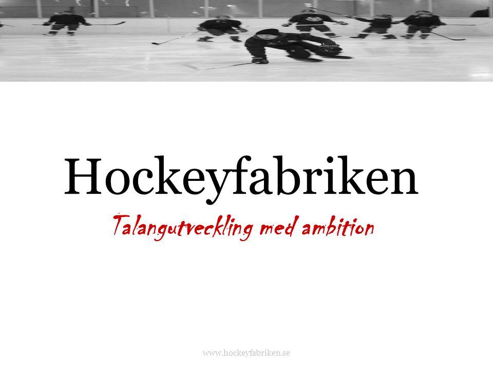 Hockeyfabriken Talangutveckling med ambition www.hockeyfabriken.se