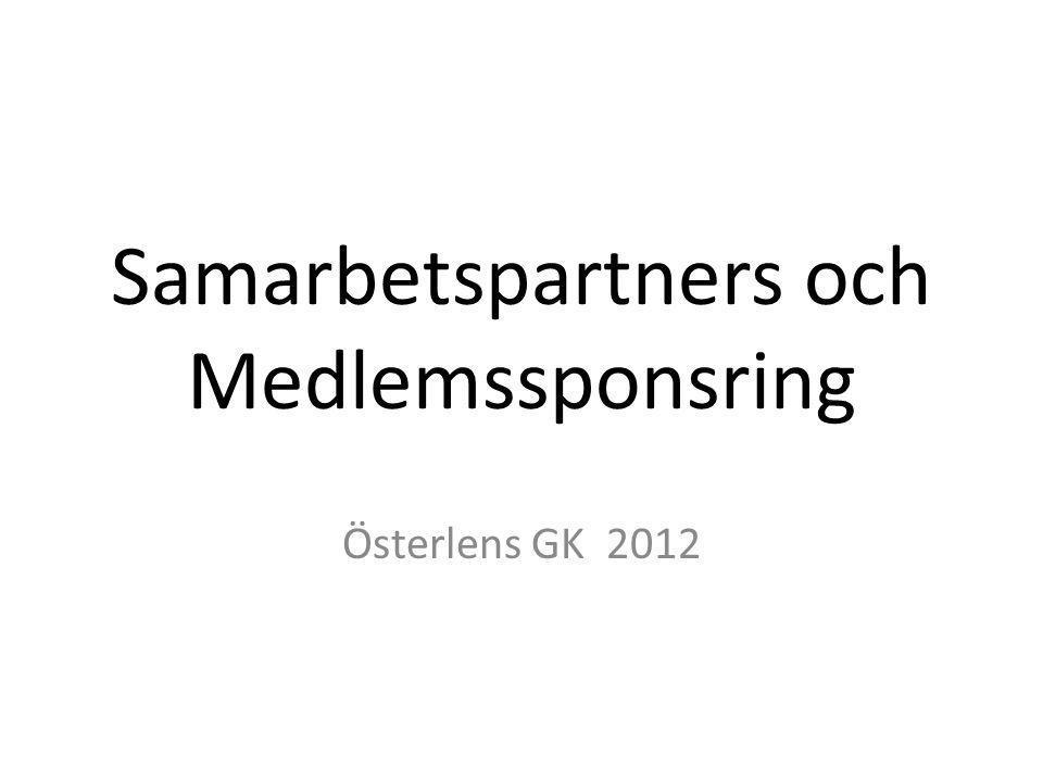 Samarbetspartners och Medlemssponsring Österlens GK 2012