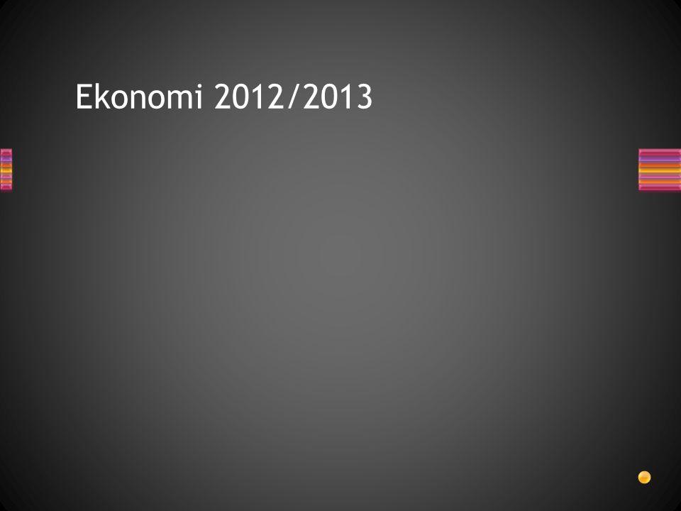 Ekonomi 2012/2013