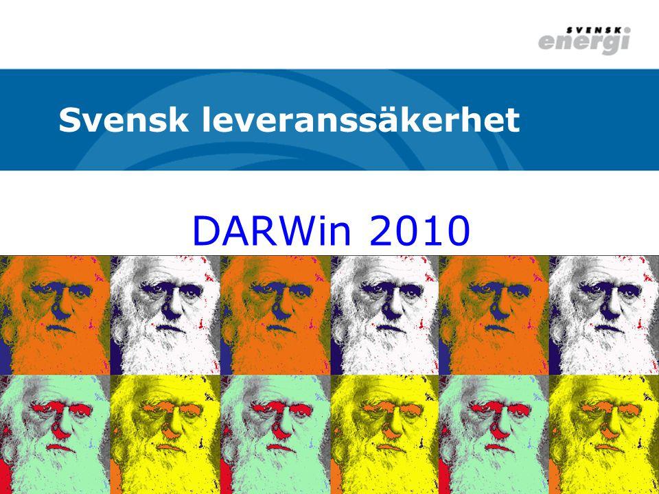 DARWin 2010 Svensk leveranssäkerhet