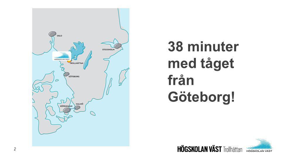 38 minuter med tåget från Göteborg! 2