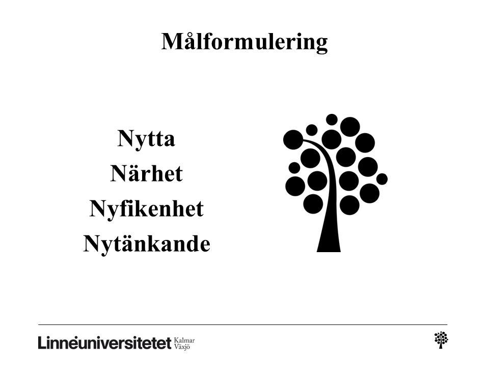 Målet Ekonomihögskolans varumärke ska ha rötter i den småländska identiteten och historien, vilket ska bidra till självförtroende och handlingskraft.