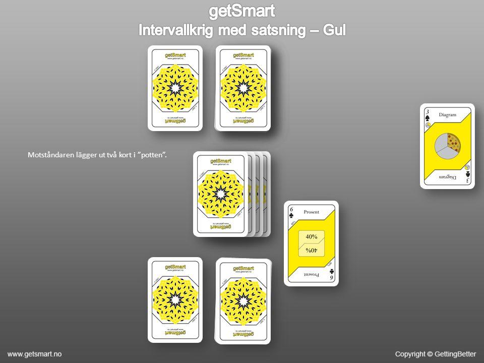 Båda spelarna lägger ut ytterligare ett kort (den här gången med framsidan upp) och får därmed ett nytt intervall.