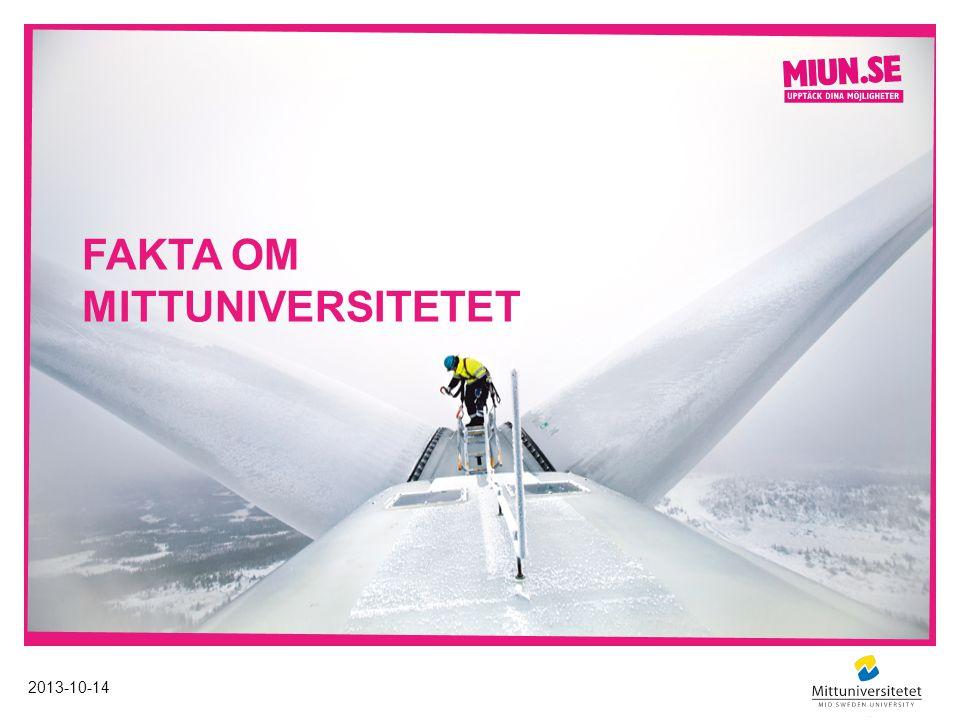 FAKTA OM MITTUNIVERSITETET 2013-10-14