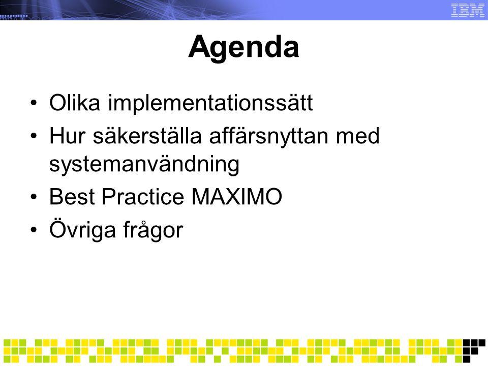 Allt för vanlig implementation Analys/design Mycket diskussioner runt hur systemet ska sättas upp.