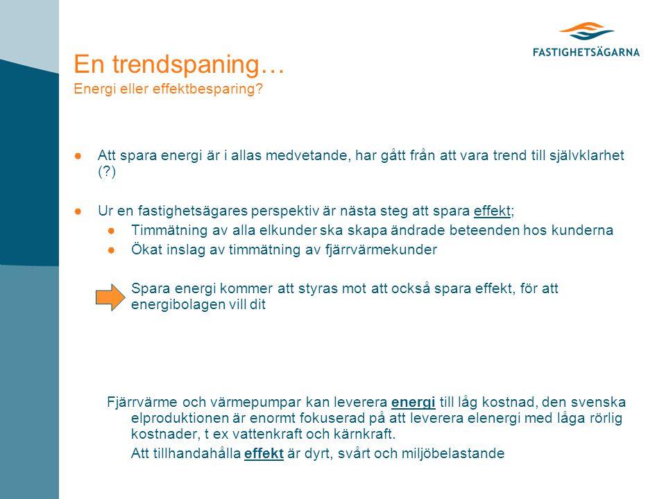 En trendspaning… Energi eller effektbesparing.