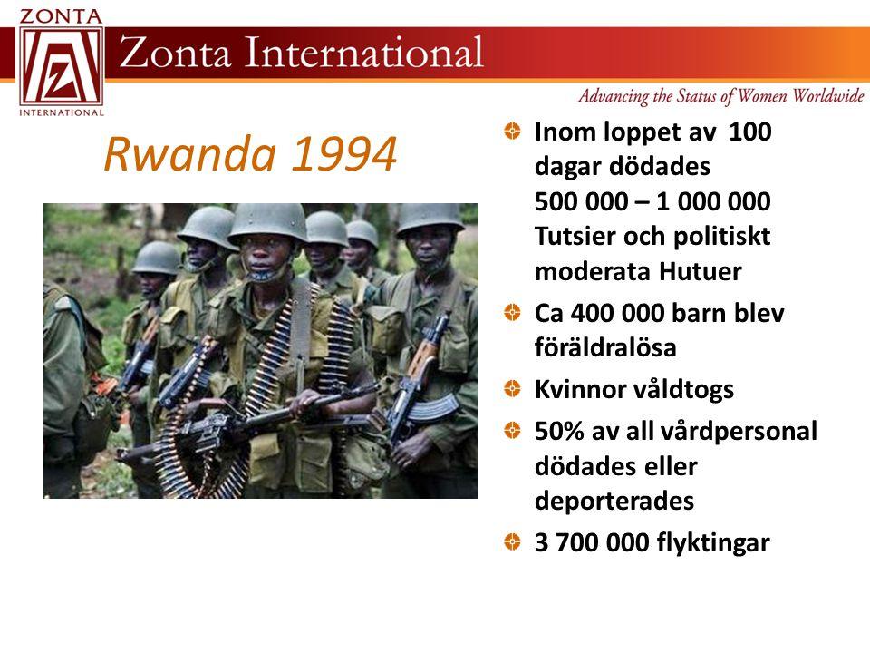 Efter folkmordet och kriget har Rwanda till stor del blivit ett land bestående av sårbara kvinnor och barn Efter folkmordet och p g a HIV-positiva mödrar är Rwanda ett av länderna i världen med högst antal föräldralösa barn