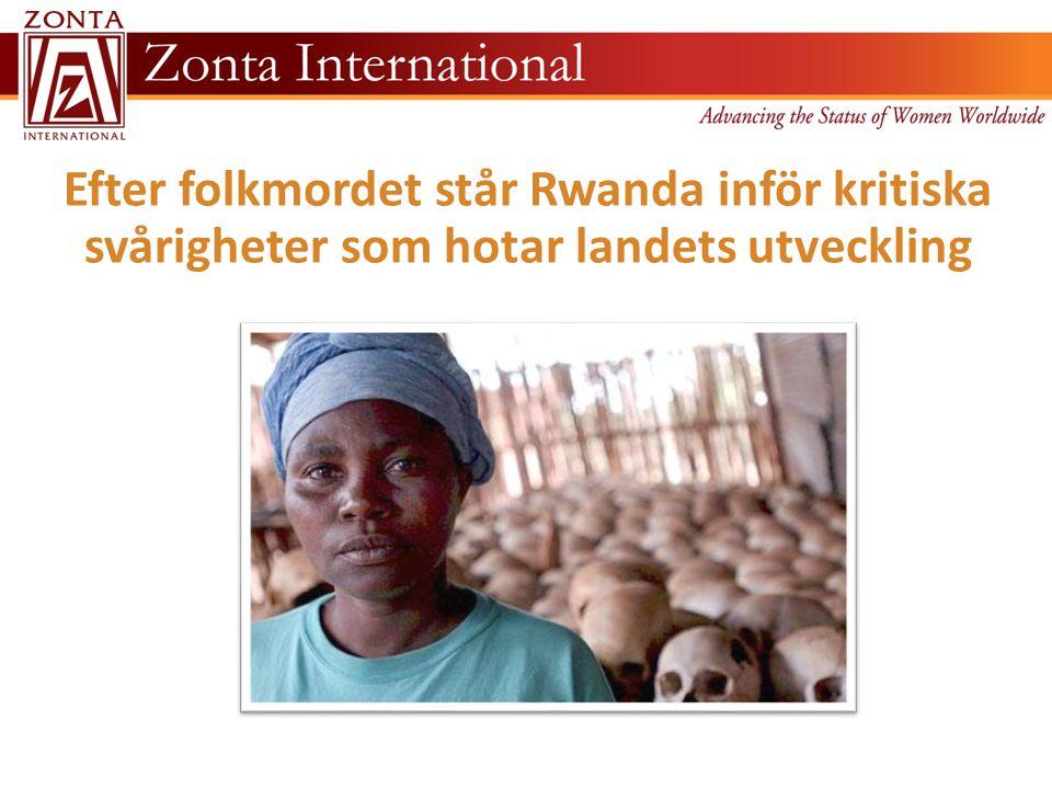 Efter folkmordet står Rwanda inför kritiska svårigheter som hotar landets utveckling