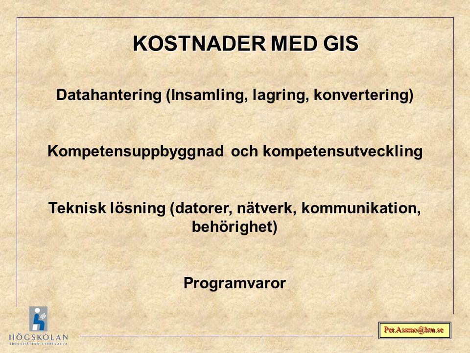 Per.Assmo@htu.se Datahantering (Insamling, lagring, konvertering) Kompetensuppbyggnad och kompetensutveckling Teknisk lösning (datorer, nätverk, kommu