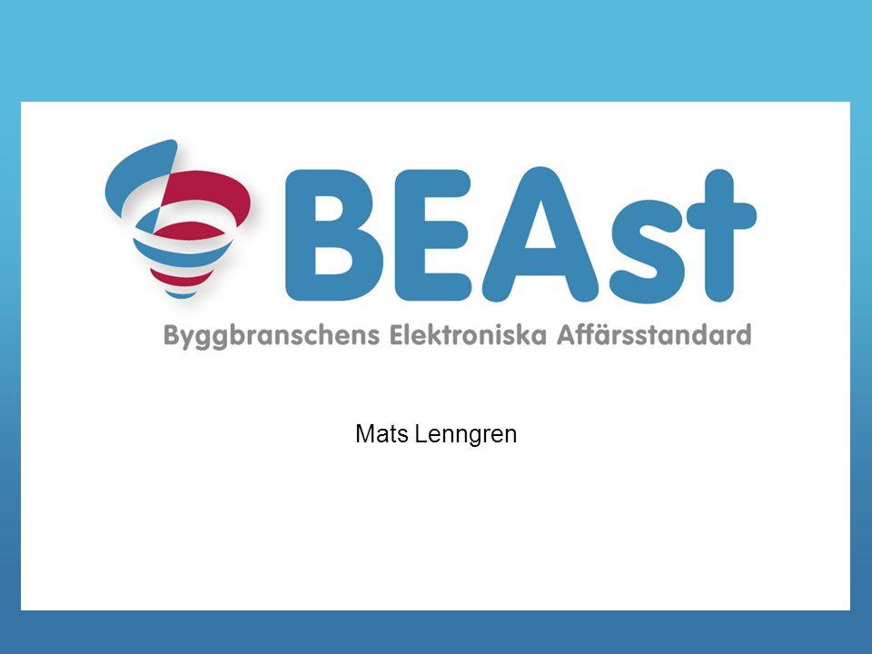 Byggbranschens Elektroniska Affärsstandard 2 Verksamhetsidé BEAst tar fram standarder och tjänster för elektroniskt informationsutbyte som leder till sänkta kostnader för aktörerna i och i anslutning till byggbranschen