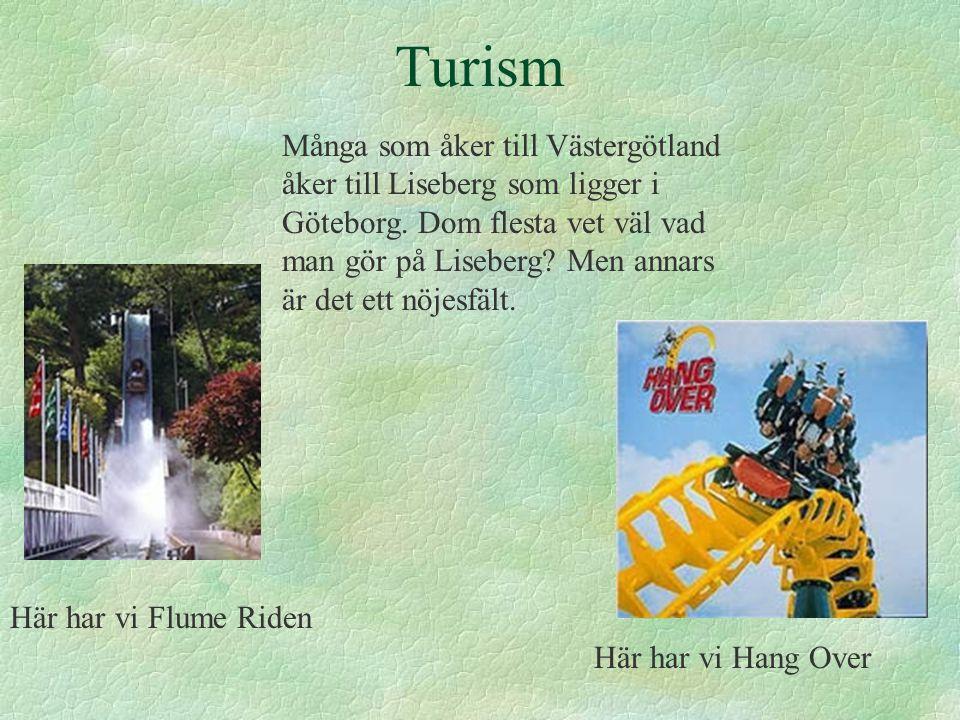 Turism Många som åker till Västergötland åker till Liseberg som ligger i Göteborg.