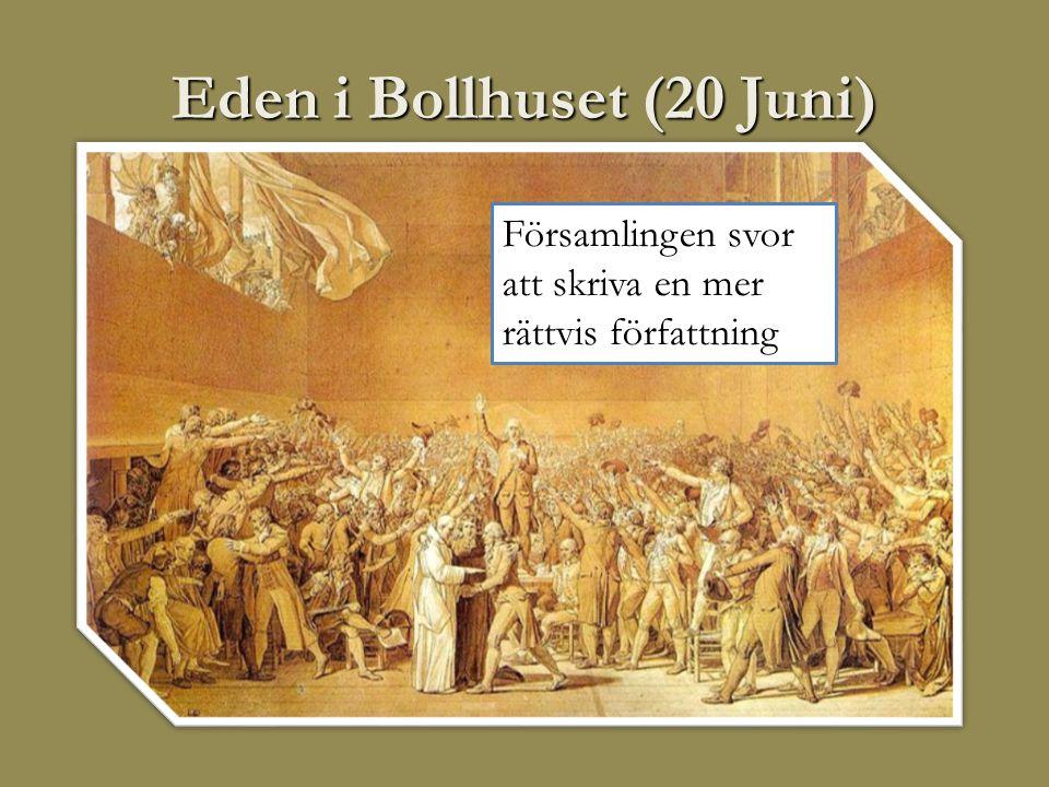 Eden i Bollhuset (20 Juni) Församlingen svor att skriva en mer rättvis författning