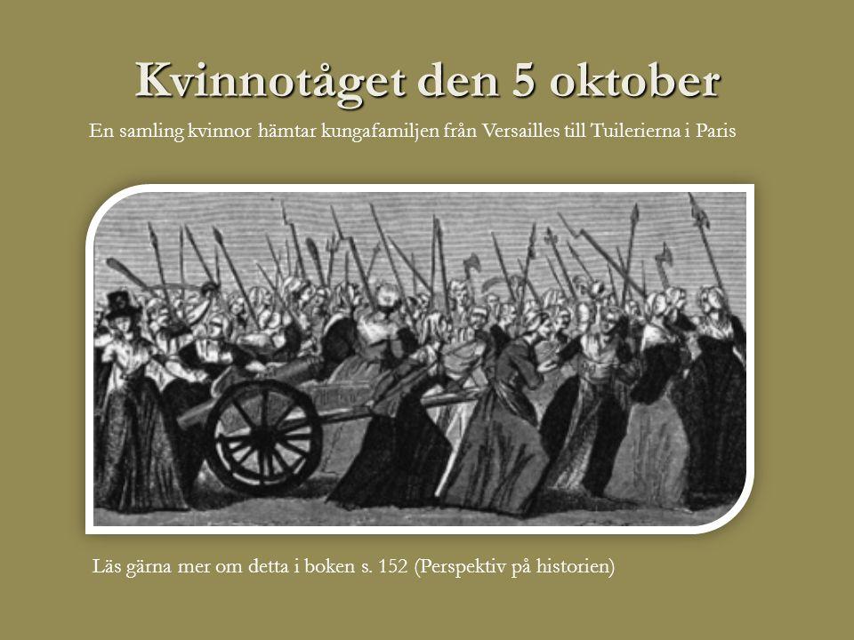 Kvinnotåget den 5 oktober Läs gärna mer om detta i boken s.