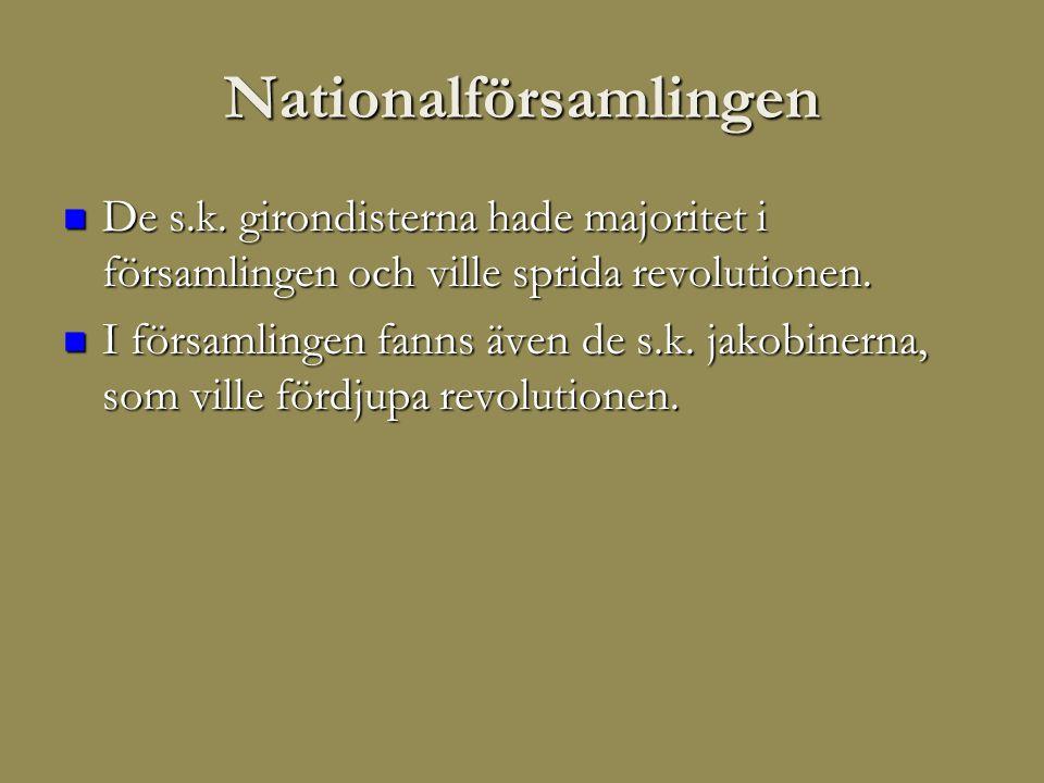 Nationalförsamlingen  De s.k.
