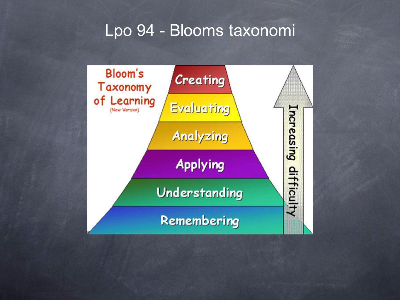 Lpo 94 - Blooms taxonomi