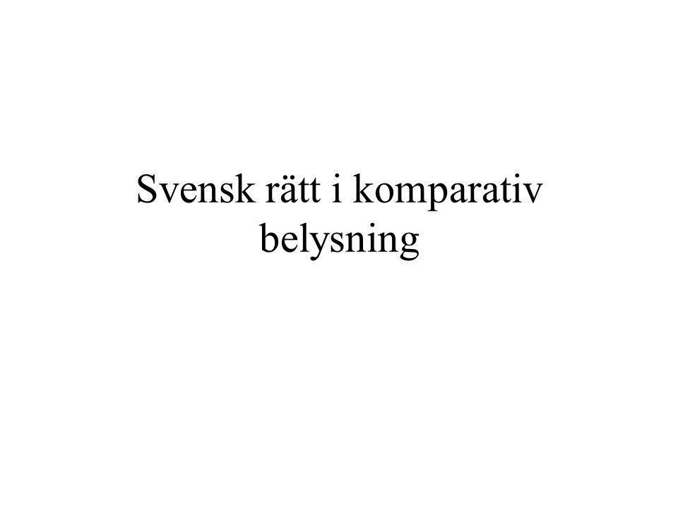 Svensk rätt i komparativ belysning