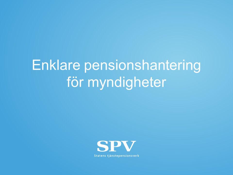 Enklare pensionshantering för myndigheter