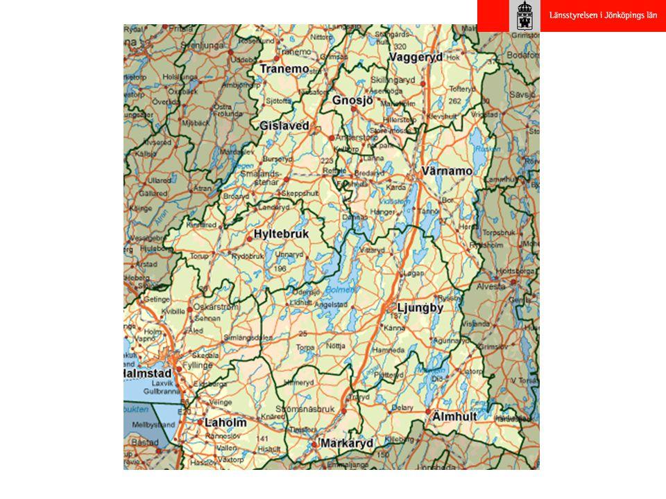 Underlag till Vindkraftsplanen •Kunskapsunderlag om vindkraftens påverkan på andra intressen •Landskapsanalys (delar in landskapet i Nissadalen, Sjölandskap och skogsladnskap) •GIS-analys (med bla närhet till bostäder, vindförutsättningar, allmänna intressen främst natuvårdens, kulturmiljövårdens samt rekreations och friluftslivets intressen.