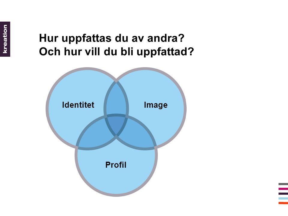 Hur uppfattas du av andra Och hur vill du bli uppfattad Profil IdentitetImage