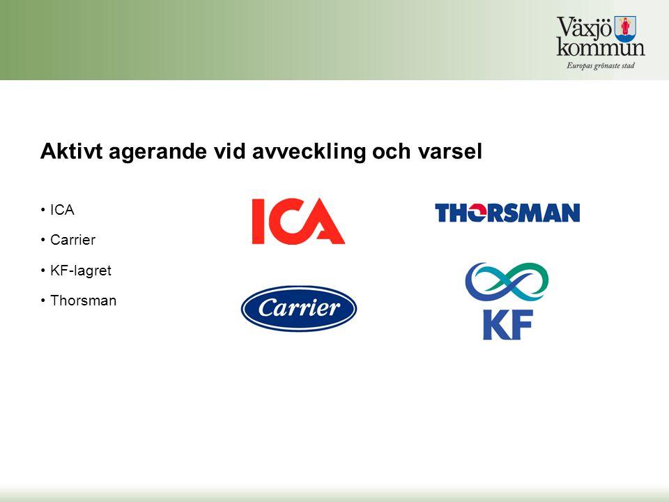 • ICA • Carrier • KF-lagret • Thorsman Aktivt agerande vid avveckling och varsel