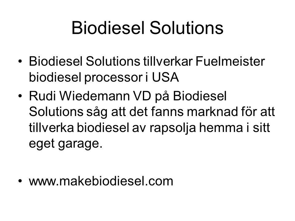Här kommer en video. •Från USA visas en RME processor •FUELMEISTER. •Joshua Tickell visar hur man tillverkar RME i ett garage. Joshua Tickell är den m