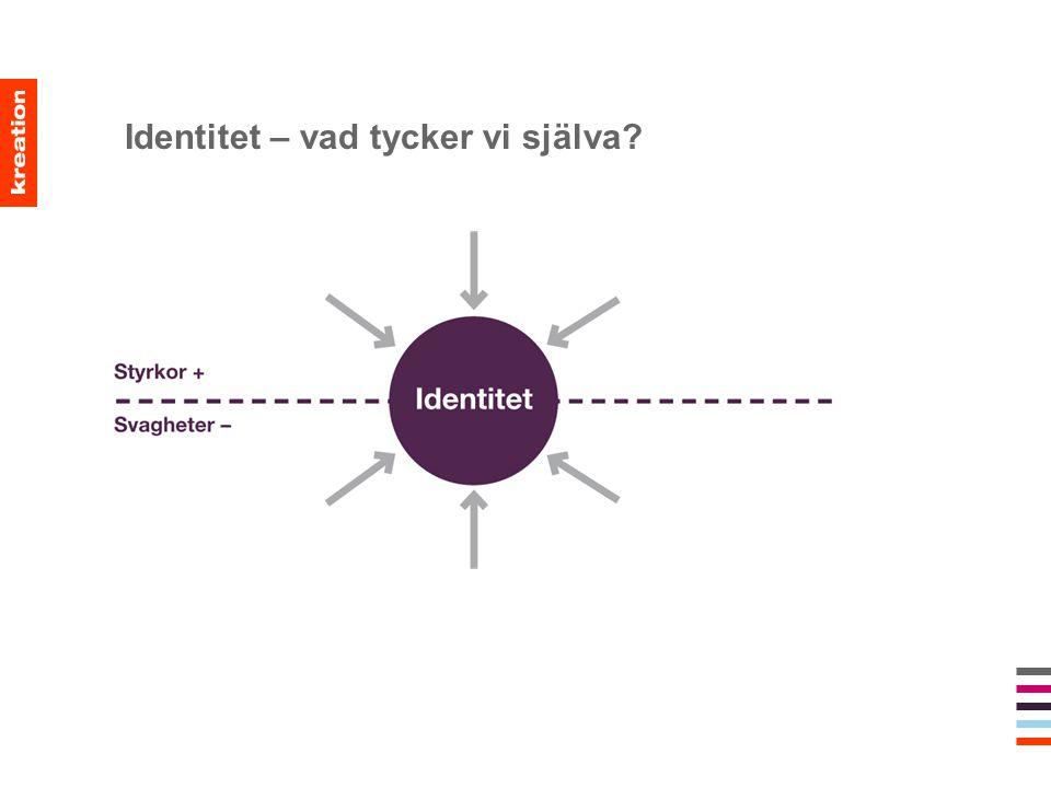 Identitet – vad tycker vi själva?