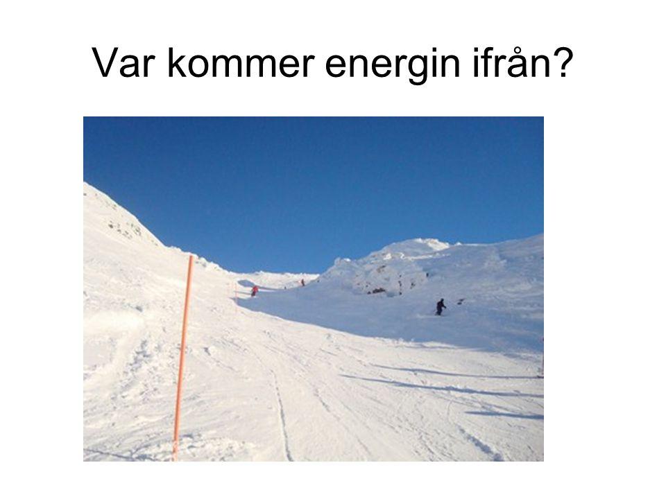 Var kommer energin ifrån?