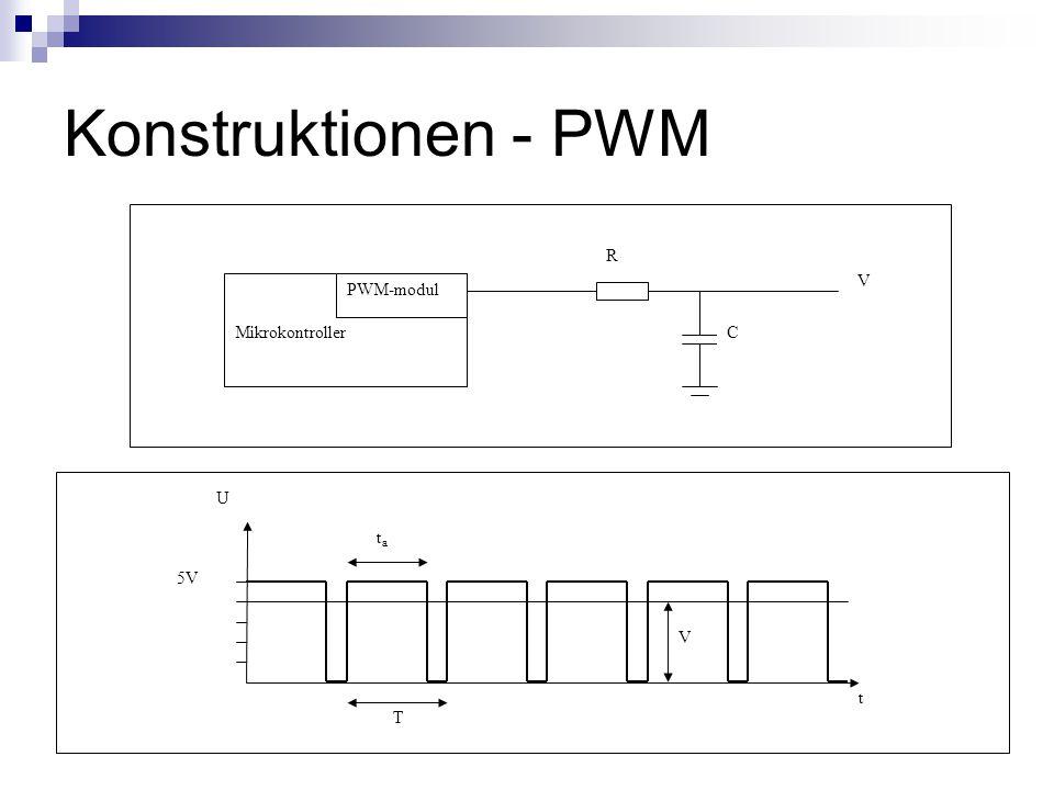 Konstruktionen - PWM 5V V T tata t U Mikrokontroller PWM-modul R C V