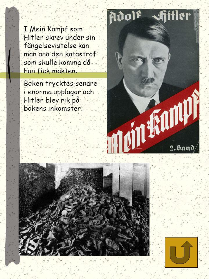 Nazisterna stärkte sin position genom att ordna enorma massmöten där nazismen och Hitler glorifierades och tyska herrefolket prisades. Annorlundatänka
