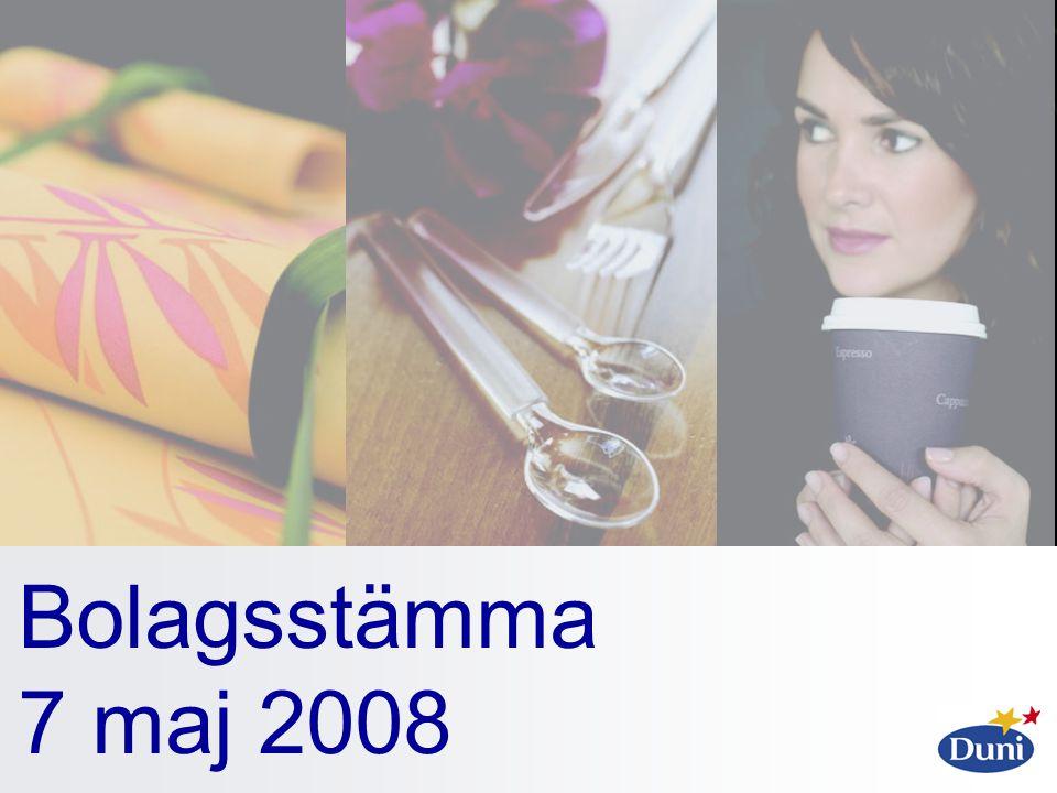 Bolagsstämma 7 maj 2008