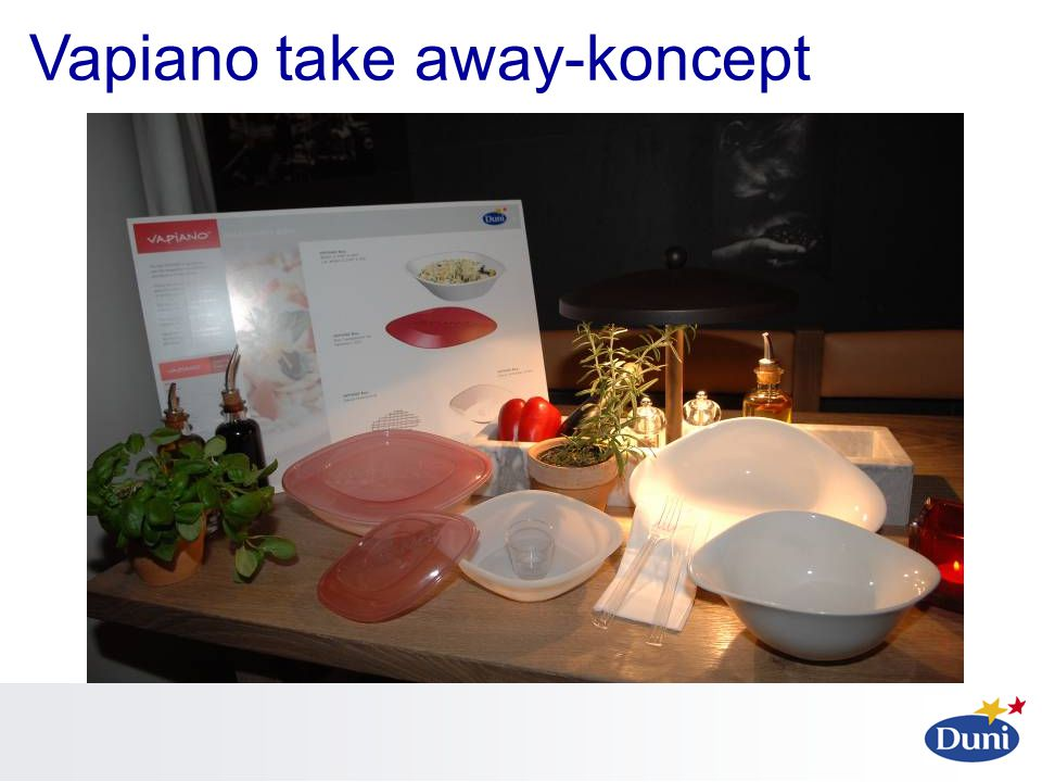 Vapiano take away-koncept
