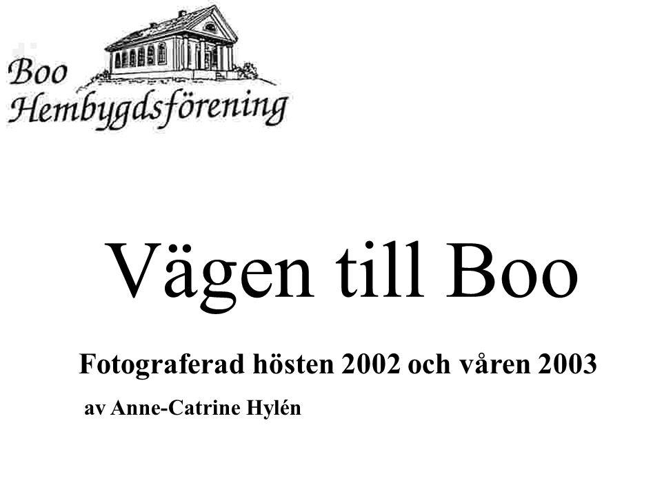 Vägen till Boo Fotograferad hösten 2002 och våren 2003 av Anne-Catrine Hylén