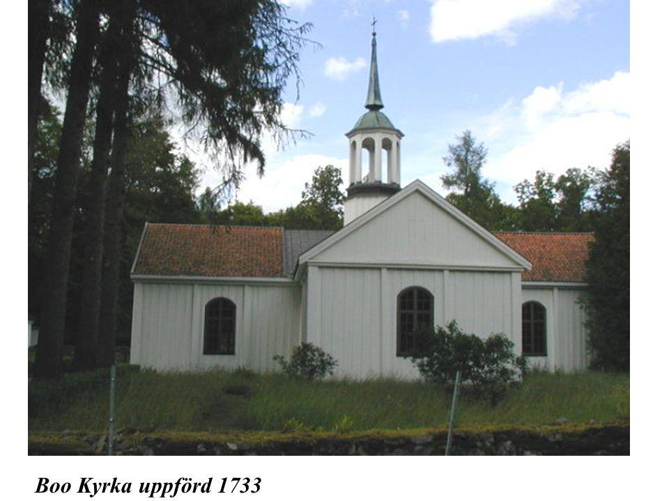 Boo Kyrka uppförd 1733