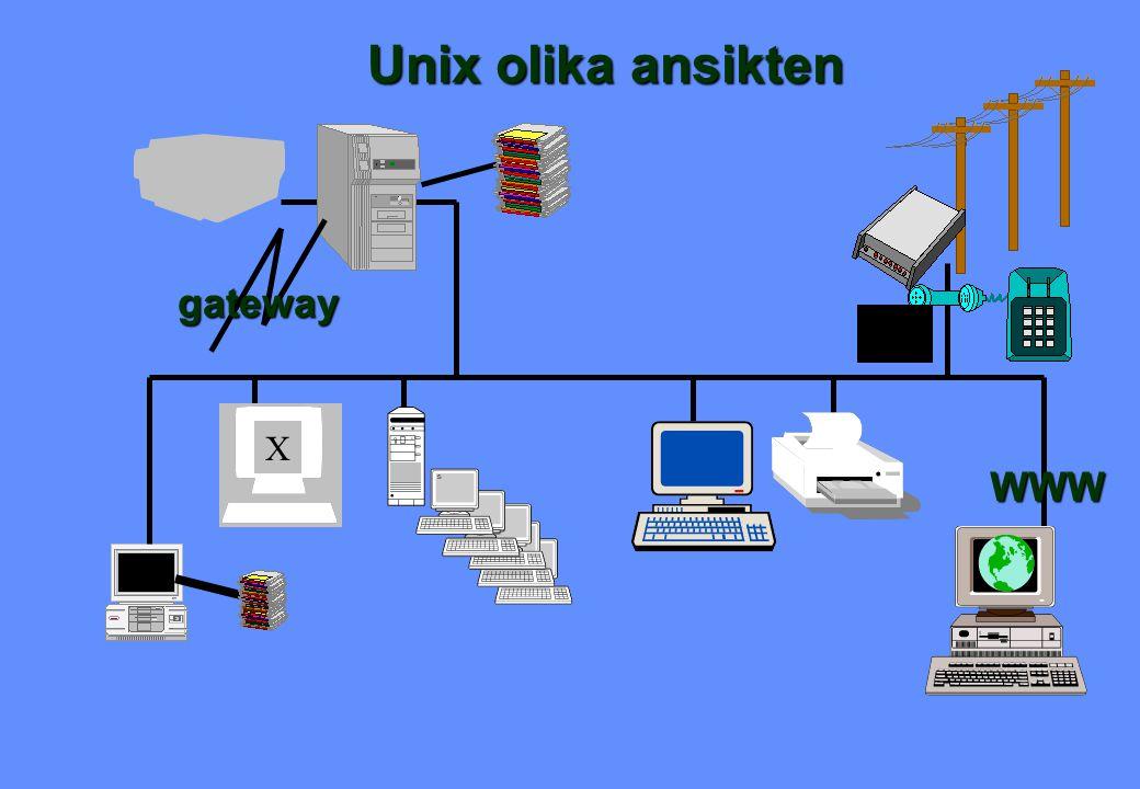 Unix olika ansikten X gateway WWW