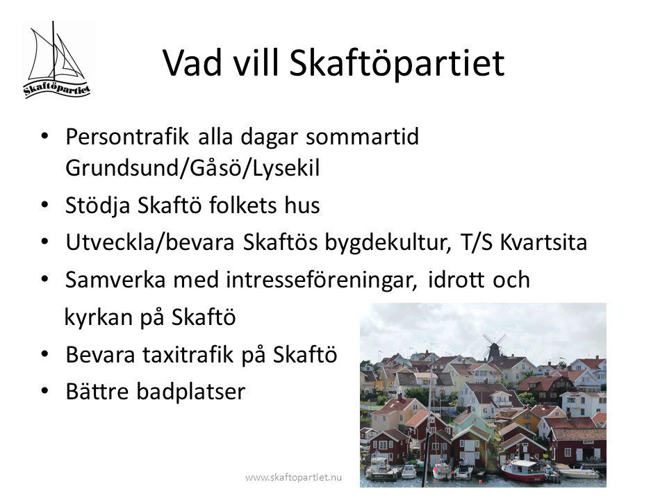 Vad vill Skaftöpartiet www.skaftopartiet.nu Verka för utveckling av en levande kust- och landsbygd, ev.
