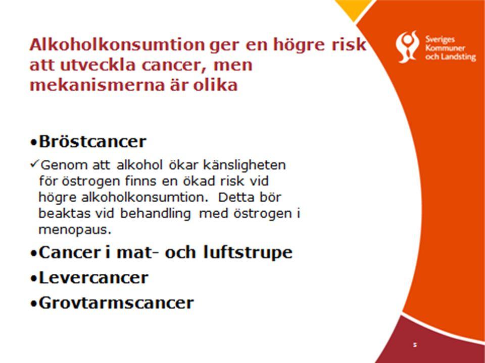 Kvinnor och Alkohol  Benskörhet – Kraftig alkoholkonsumtion minskar benmassan och försvagar benet.