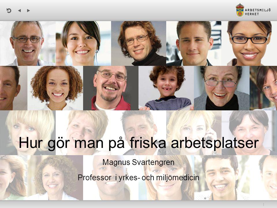| Hur gör man på friska arbetsplatser Magnus Svartengren Professor i yrkes- och miljömedicin