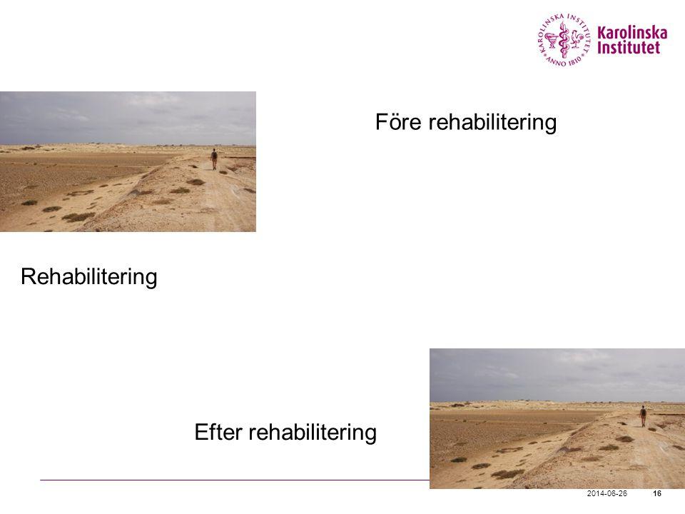 2014-06-2616 Före rehabilitering Rehabilitering Efter rehabilitering